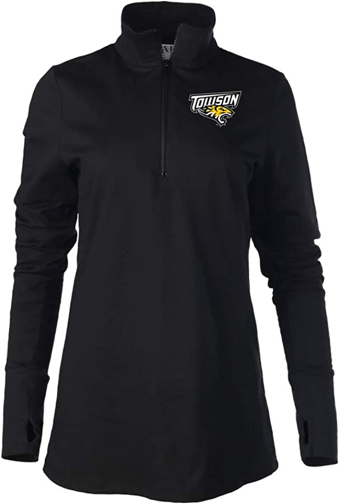 Venley NCAA Towson Tigers 03TW-1 Womens Lightweight Fleece 1//4 Zip Up