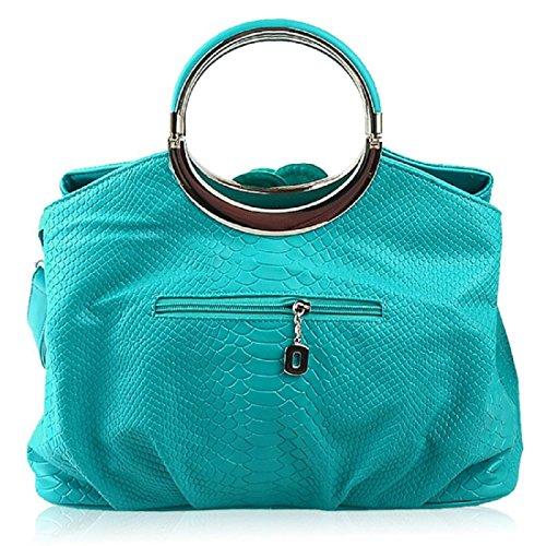 Damen Mode Handtasche Rosen Griff Taschen Niedlich Tote Schultertasche
