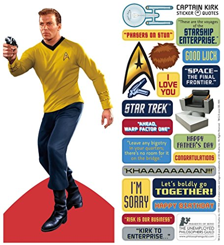 Star Trek James T. Kirk Quotable Notable - Die Cut Silhouette Greeting Card and Sticker Sheet -