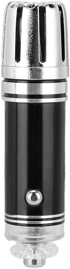 Ionizador del purificador de aire del automóvil - Limpiador de la barra de oxígeno aniónico del purificador de aire del automóvil del enchufe 12V(Negro)
