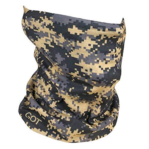 Fishing Mask Camo Headwear - Works as Fishing Sun Mask, Neck Gaiter, Headband, Bandana, Balaclava - Multifunctional Breathable Seamless Microfiber (Digi Mud)