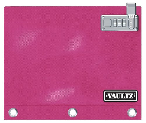 Vaultz Locking Binder Pouch, 8 x 10 Inches, Pink (VZ00477)