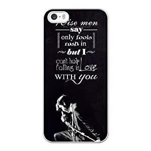 iPhone 5 5s SE Case White elvis presley_001