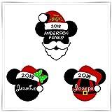 Personalized Disney Inspired Christmas Santa Magnet. Disney Cruise Magnet. Handmade Mickey Minnie Magnet. Stateroom Decor.