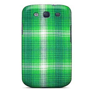 New Maria N Young Super Strong Plaid Green Fabric Close Tpu Case Cover For Galaxy S3