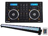Numark Mixdeck Express Premium DJ Mixer/Controller w/Dual CD+USB+ROCKSTRIP
