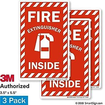 Amazon.com: SmartSign - Etiqueta interior para extintor de ...