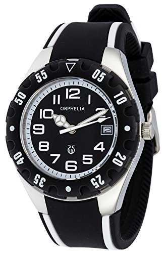 Orphelia Men's Boy'S Quartz Watch With Silicone Dial Color Black