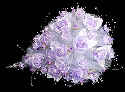 Tear Drop Bridal Quinceanera Sweet 15 Silk Flower Bouquets - US Handmade - Lavender Color (18922 - Com Sign Email Up Www