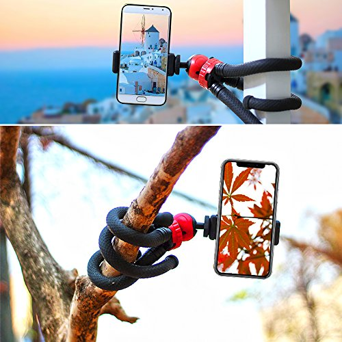 80%OFF Flexible and Sturdy Phone Tripod 12 Inch Mini Tripod Stand Smartphone Tripod and Action Camera Tripod for GoPro Camera iPhone Android Phone