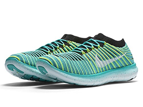 Price comparison product image Nike Free RN Motion Flyknit Women's Shoes, Clear Jade, Size 7.5