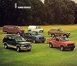 VERY COLLECTIBLE ORIGINAL 1991 FORD PICKUP SUV & VAN FULL LINE DEALER SALES BROCHURE - F-Series Pickups, Ranger, Explorer, Bronco, XLT, Club Wagon, Econoline, Aerostar