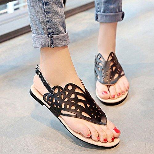 1 Femmes Ete Chaussures Black d Sandales Zanpa 61xndvwXx