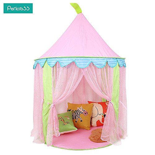 Pericross Girl Princess Castle Style Play House Kids Play Tent for Reading Room Pink