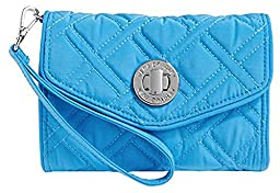 Vera Bradley Women\'s Your Turn Smartphone Wristlet Coastal Blue Clutch