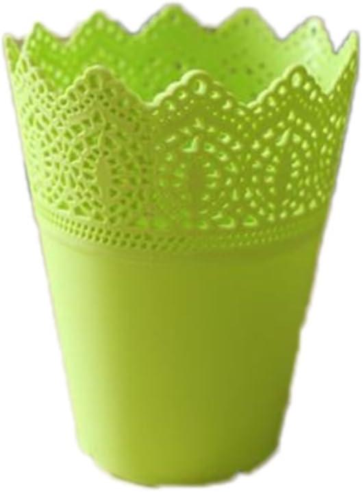 lumanuby 1pieza Pinceles de maquillaje soporte o–Cesta plástico macetas redondo Macetero plástico para flores Arrangement para Hogar Salón Dormitorio Hotel Oficina Decoración o