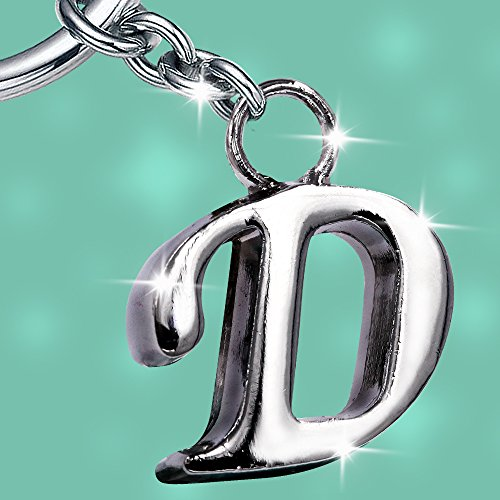 Stylish Letter D Simple Alphabet Key Ring Creative Packaging Design Box Z 324