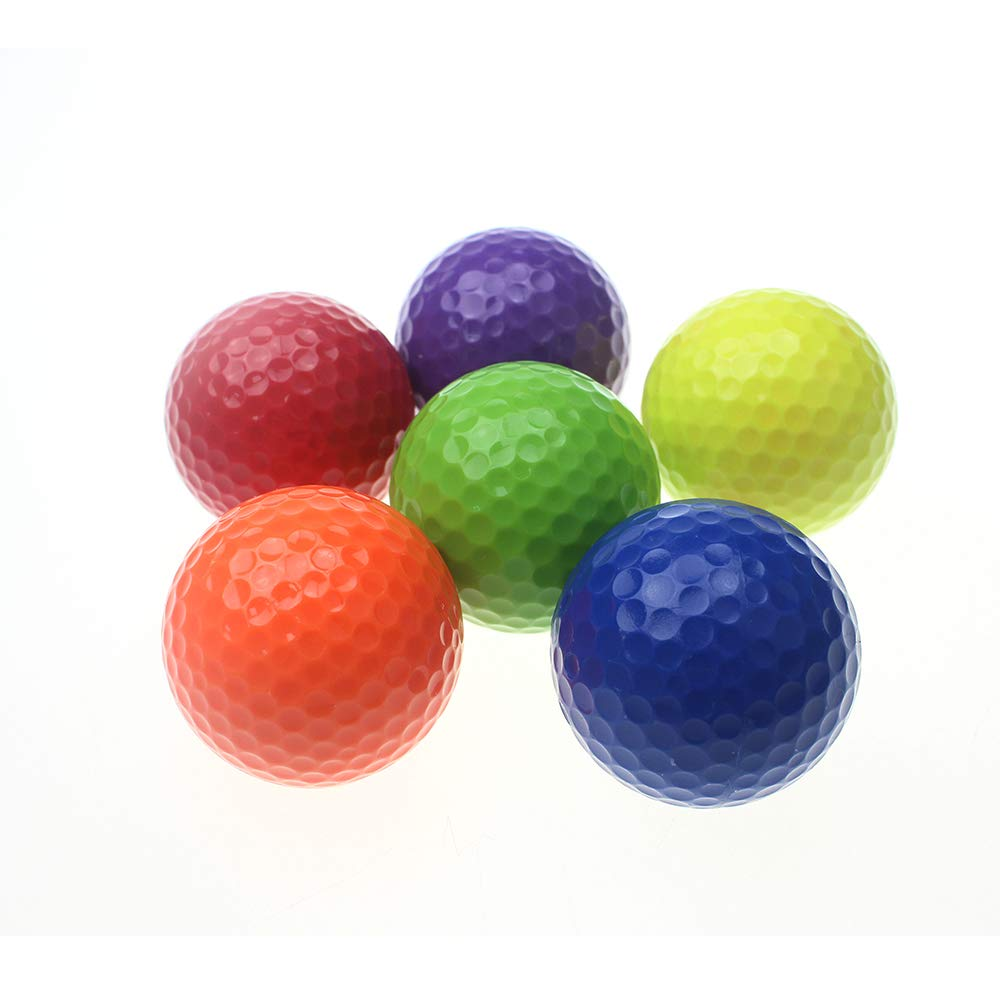 kofullクラスゴルフボール6個パックグリーンブルーオレンジパープルレッドイエロー   B077ZQKQ9M
