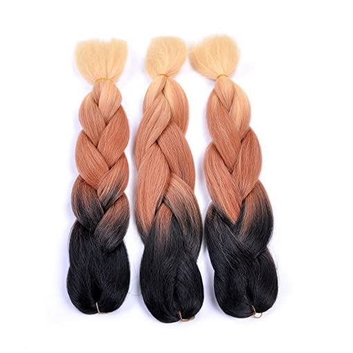 Jumbo Braiding Hair 3pcs Ombre Synthetic Braiding Hair Extension For
