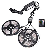 XKTtsueercrr 3528 SMD 300LED Waterproof Flexible RGB Color Changing LED Light Strip, 32.8 FT, (Two Rolls)