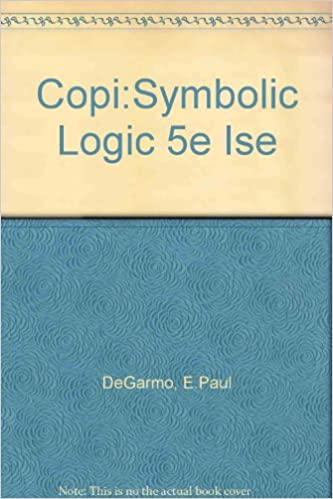 Amazon Buy Copisymbolic Logic 5e Ise Book Online At Low Prices