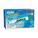 Expo Low Odor Chisel Tip, Green, 12-Count