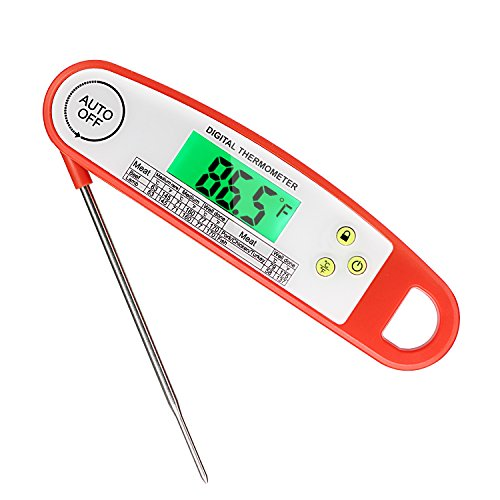 Meat Thermometer, ARNIL Waterproof Digital Meat Thermometer Instant Read Digital Food Cooking Thermometer with LCD Backlit Function for Kitchen, BBQ, Grilling, Candy, Milk, Grill Smoker