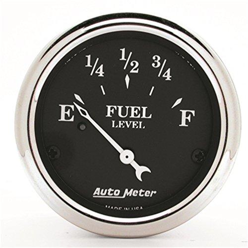 16 Fuel Level Gauge - Auto Meter 1715 Old TYME Black Fuel Level Gauge