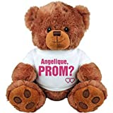 Angelique, Prom? Cute Bear With Hearts: Medium Plush Teddy Bear