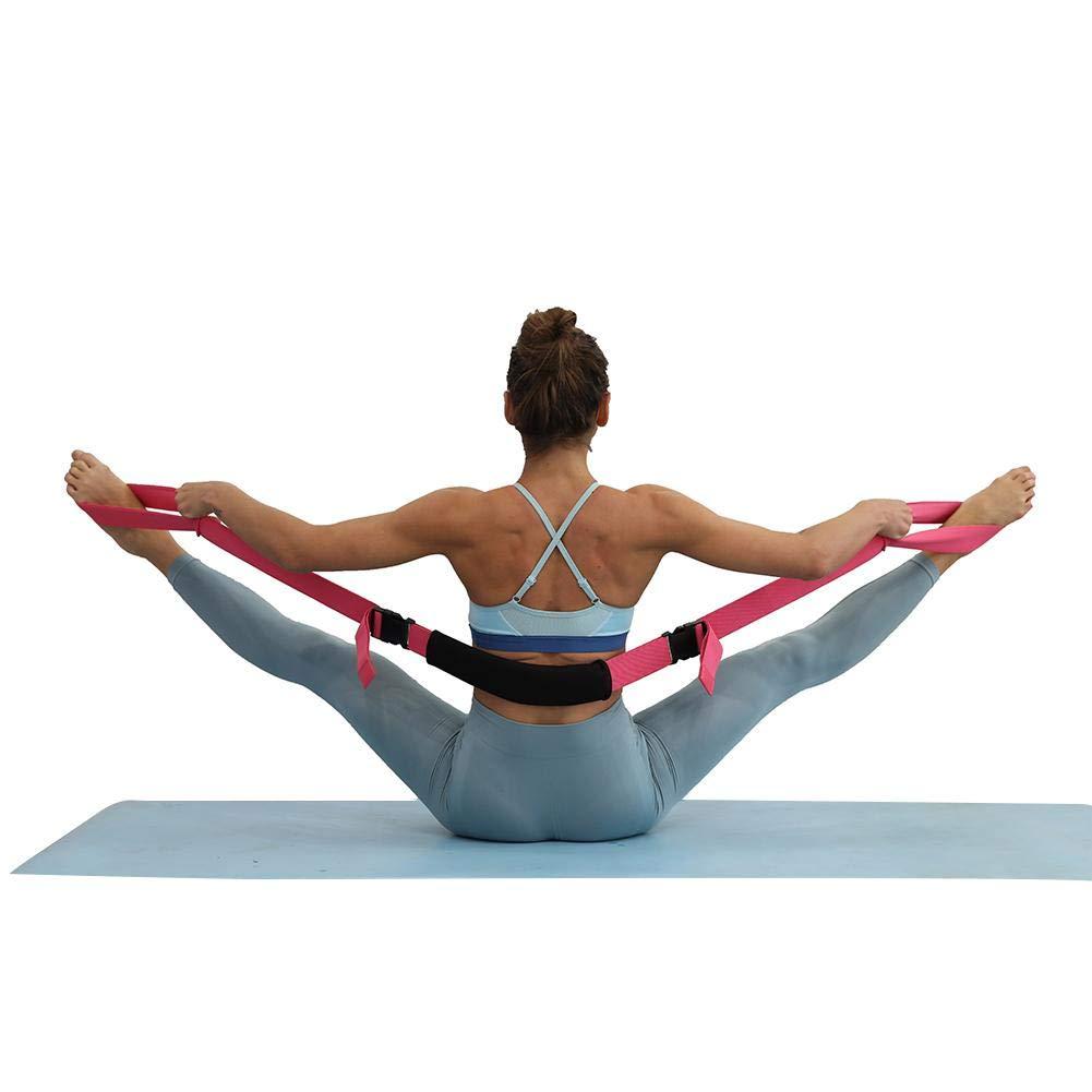 1,5 M Allgemeine Fitness Flexibilit/ät Und Physiotherapie Langlebige Verstellbare Gurte F/ür Stretching Wateralone Yoga Gurt F/ür Split-Leap-Training Stretching Mit Kreuz