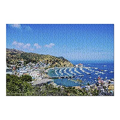 Catalina Island, California - Harbor Overlook on a Summer Day 9024642 (Premium 500 Piece Jigsaw Puzzle for Adults, 13x19, Made in USA!): Toys & Games