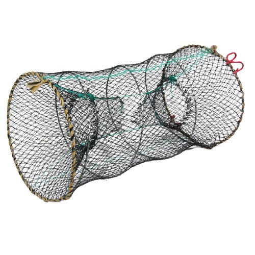uxcell Crab Crawfish Lobster Shrimp Collapsible Cast Nylon Net 25cm x (Nylon Cast Nets)