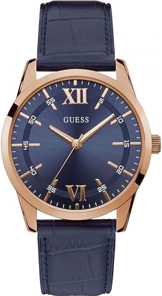 GUESS Reloj de Hombre Cuarzo 42mm Correa de Cuero Caja de Acero W1307G2