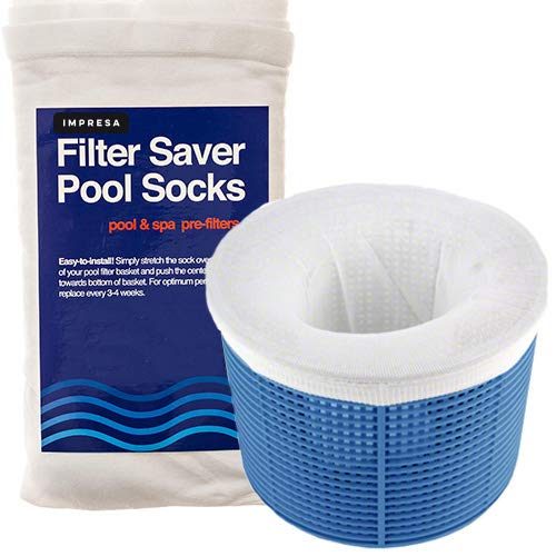 Impresa Products 20-Pack of Pool Skimmer Socks - Perfect Savers for Filters, Baskets, and Skimmers