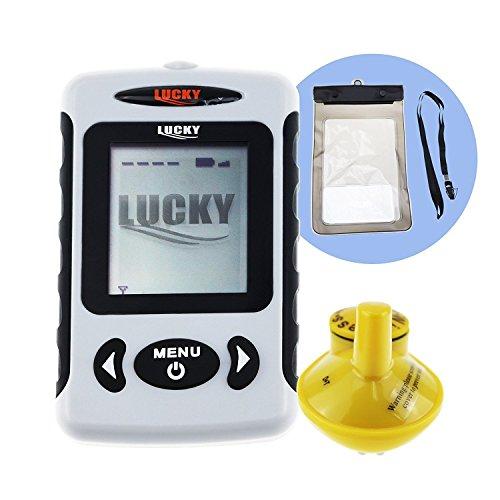 Cheap LUCKY Wireless 45m Depth Fish Finder Sonar Sensor Dot Matrix Bottom Contour
