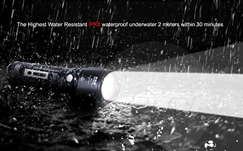 Small Tactical Flashlights Military Grade with Holster Holder Clip Outdoor Pocket Super Bright Led Flashlight High Lumens Waterproof IPX8 Police Army 18650 CR123A Mini Torch Camping Lantern Tac Light by CIVICTOR (Image #8)