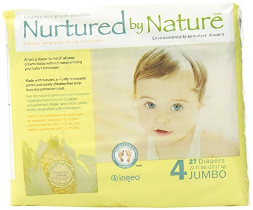 Nurtured by Nature Environmentally-Sensitive Diapers, Large Size 4, 27 count (Pack of 4) by Nurtured by Nature