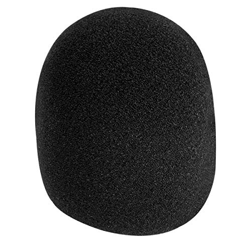 (On-Stage Foam Ball-Type Microphone Windscreen, Black )