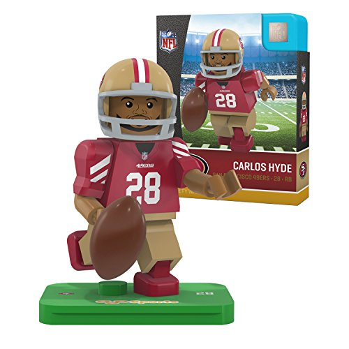 OYO NFL San Francisco 49ers Gen4 Limited Edition Carlos Hyde Mini Figure, Small, White