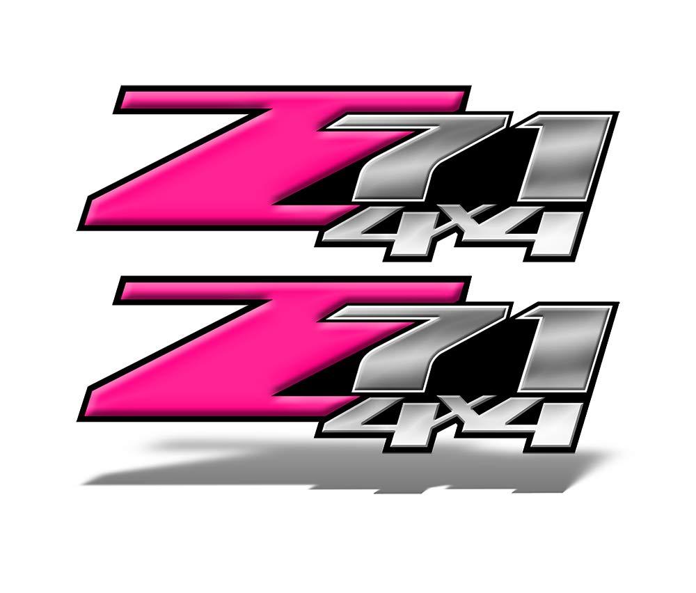 Amazon com speed demon hot rod shop z71 4x4 decals pink vinyl graphic truck decals set of 2 mk002z71 automotive