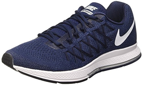 Nike Air Zoom Pegasus 32, Zapatillas de Running Para Hombre Azul / Blanco (Midnight Navy / White-Mdnght Nvy)