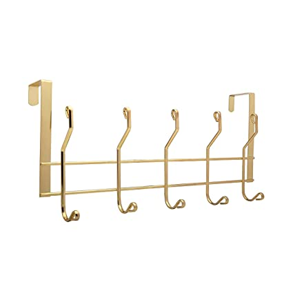 Genial Ruiling 2 Pack Gold Over The Door Hooks, 10 Hanger Rack Organizer   For Home