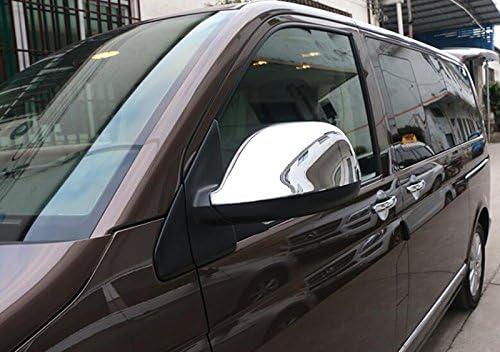 CarAutotrim Lot de 2 Coques de r/étroviseur en ABS chrom/é pour Transporter T6 2016-2019