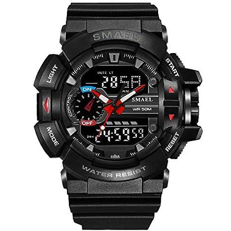 smael serie 2018 Relogio Masculino smael deporte Casual relojes LED Digital militares relojes hombres reloj FECHA