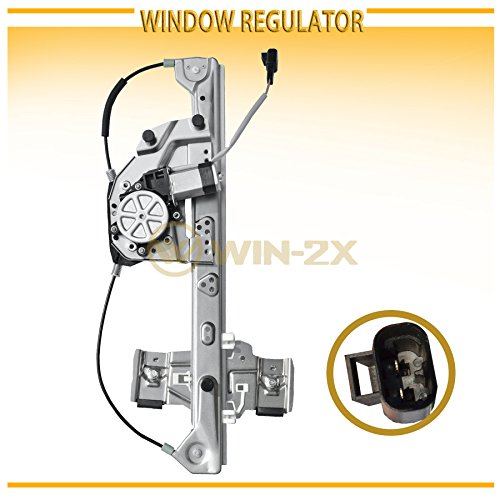 WIN-2X New 1pc Rear Driver (Left) Side Power Window Regulator & Motor Assembly Fit 00-05 Cadillac DeVille ()