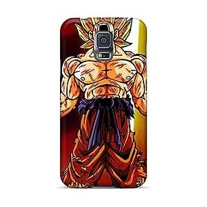 Samsung Galaxy S5 Zvf27544xCsZ Provide Private Custom Beautiful Dragon Ball Z Super Saiyan Image Shock Absorbent Hard Cell-phone Case -RichardBingley
