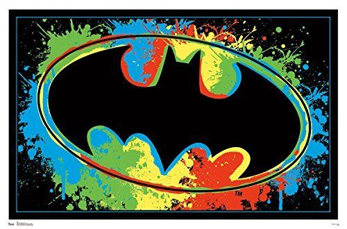 Batman Logo Blacklight Poster