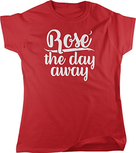 NOFO Clothing Co Rose The Day Away Women's T-Shirt, L Red ()