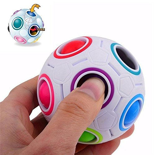 YTJSFH Pop Rainbow Magic Ball Plastic Cube Twist Puzzle Toys for Children's Educational Toy Teenagers Adult Stress ()