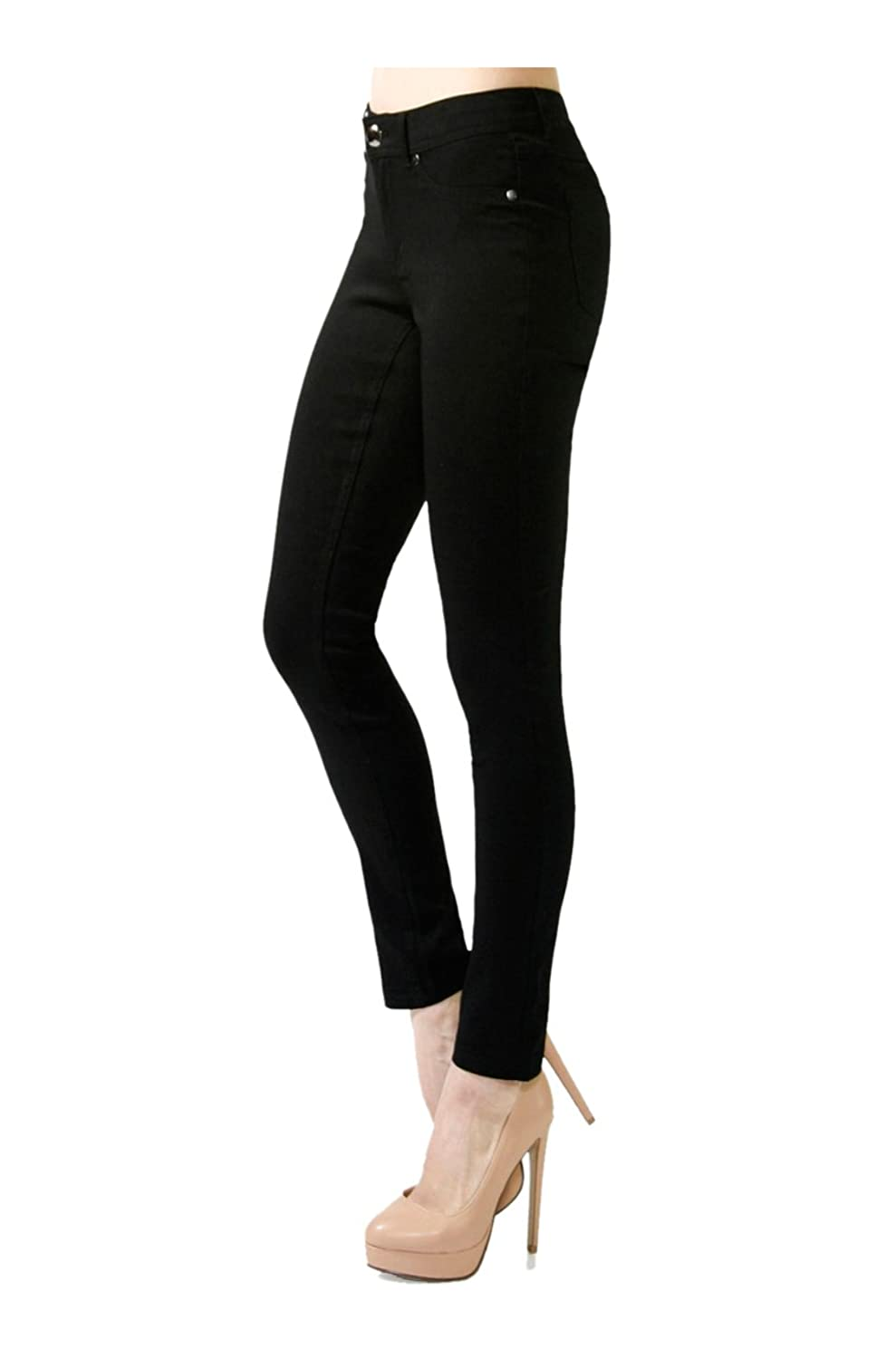 2LUV Women's Skinny Stretch Bengaline Ponte Pants